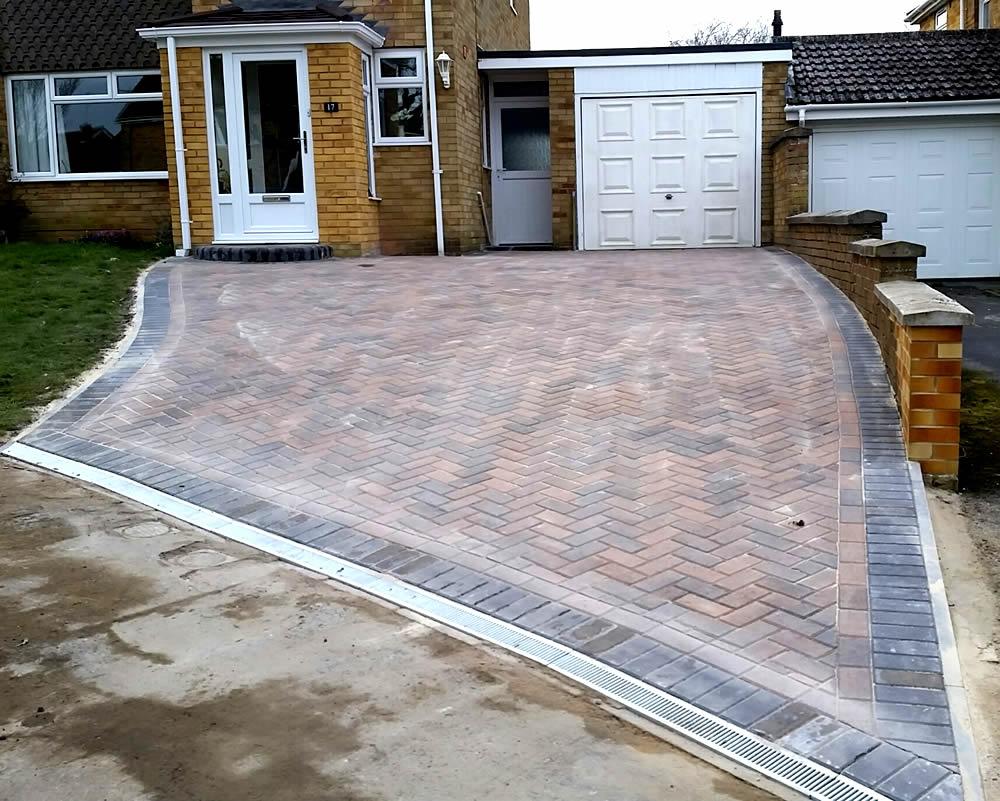 Herringbone Brick Driveway