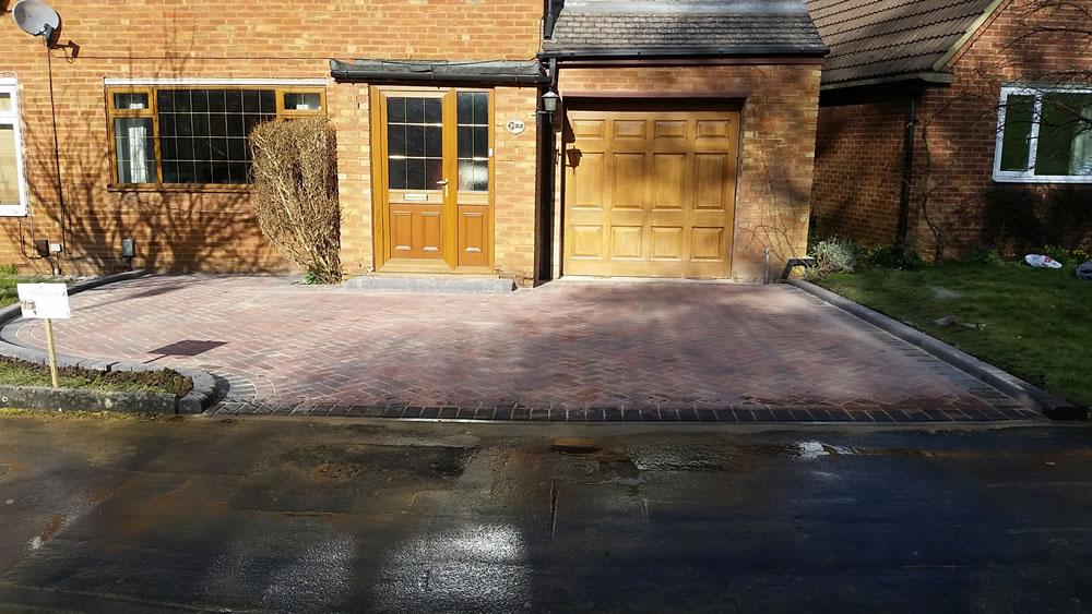 Block paving driveway