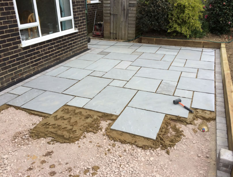 swindon Patio Paving in progress