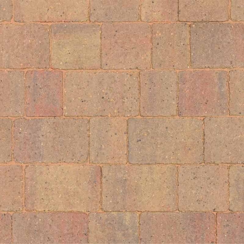 Autumn gold block paving by Brett Landscaping