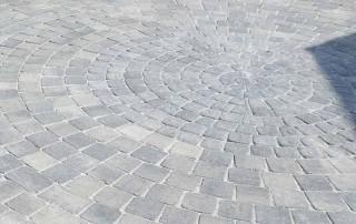 Alpha circle block paving by Brett Landscaping