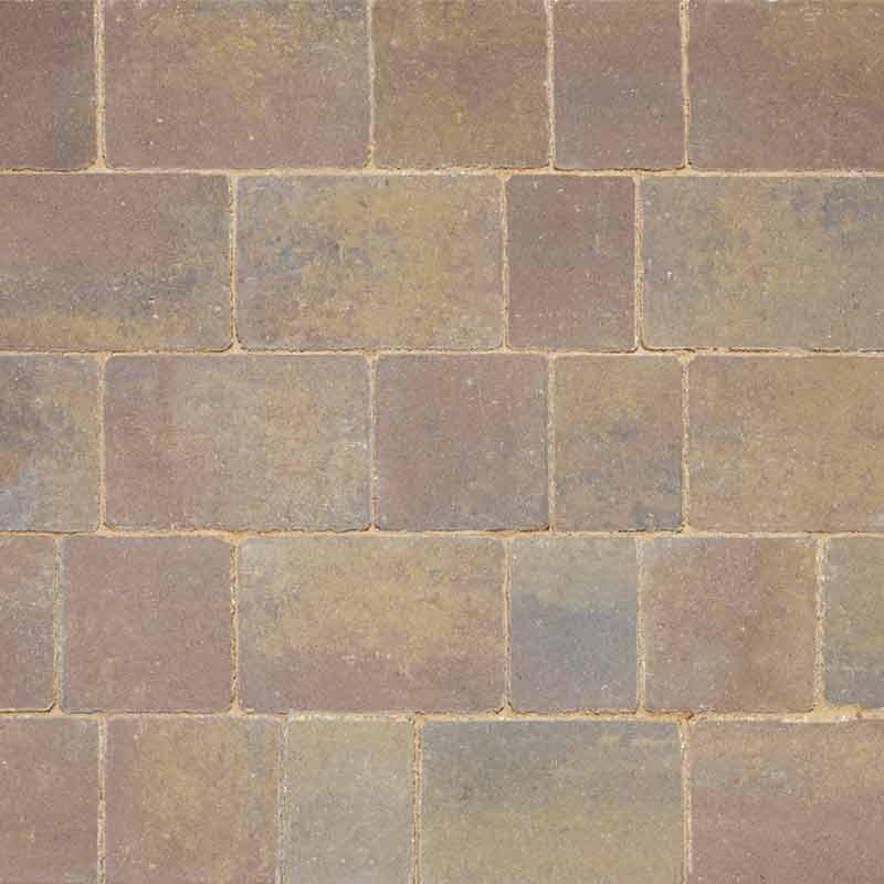 Rustic Bronze paving by Brett Landscaping