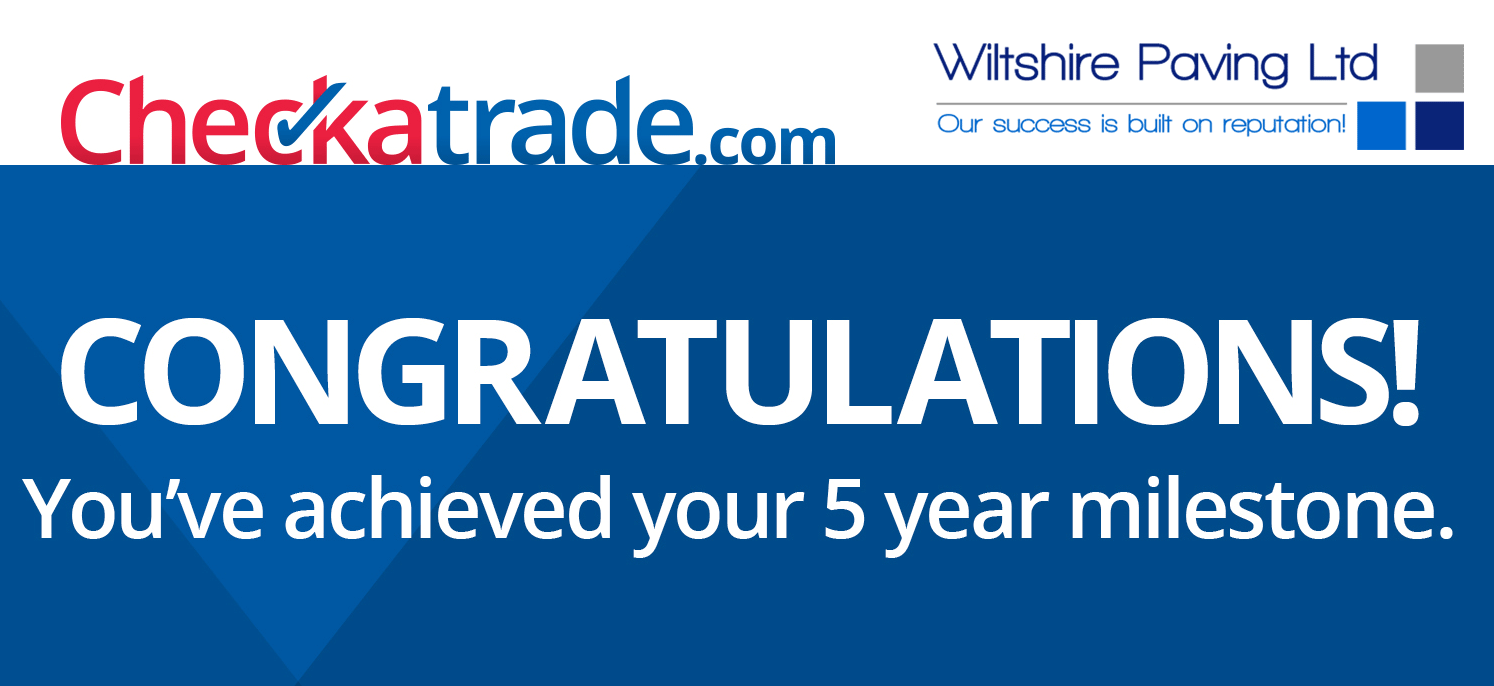 Wiltshire Paving Ltd 5 years with Check a trade