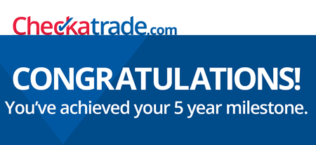 Check a trade 5 Year anniversary for Wiltshire Paving Ltd