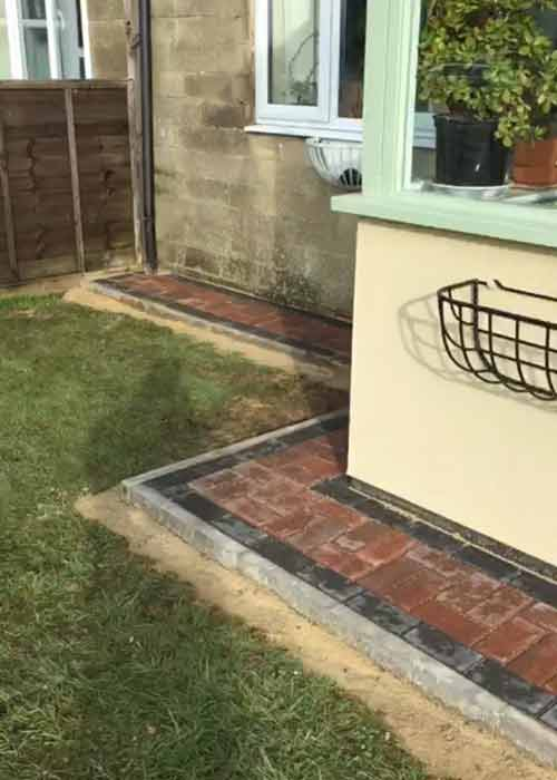 Path - omega brindle block paving work carried out by Wiltshire Paving