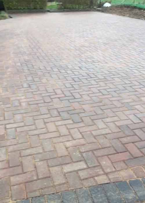 Driveway - omega brindle block paving work carried out by Wiltshire Paving