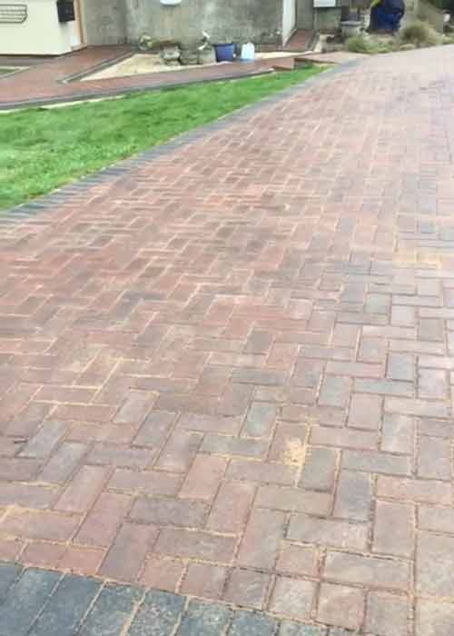 omega brindle block paving work carried out by Wiltshire Paving